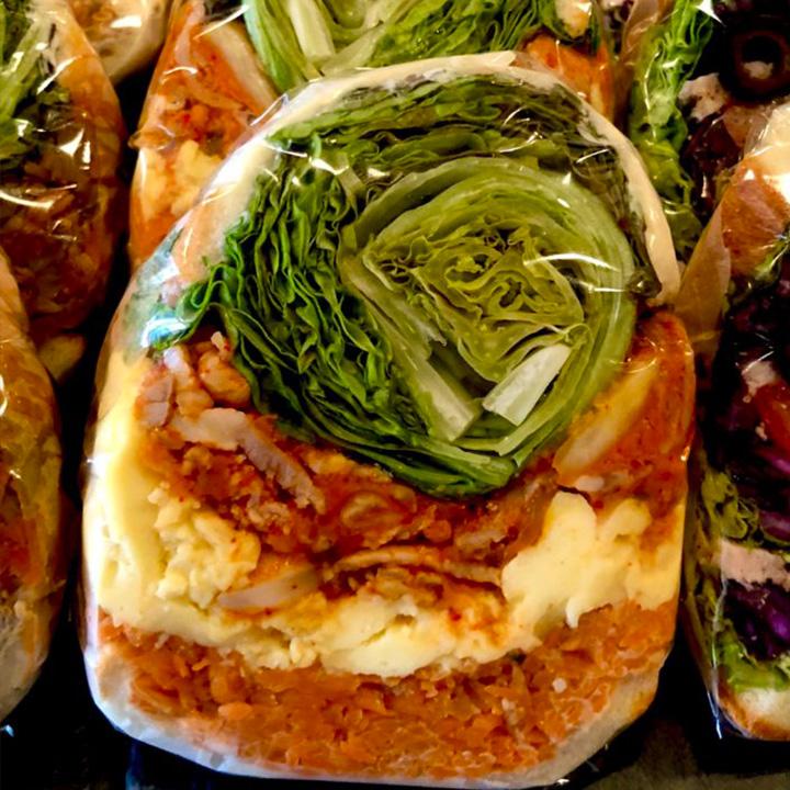 豚キムチ糀オムレツ発酵野菜