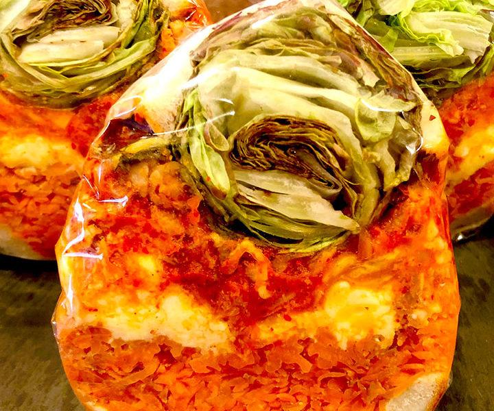 豚キムチ糀オムレツ&発酵野菜